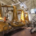 Die vier Brennblasen der Highland Park Distillery