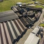 Die gesamte Distillery mit der Drohne aufgenommen