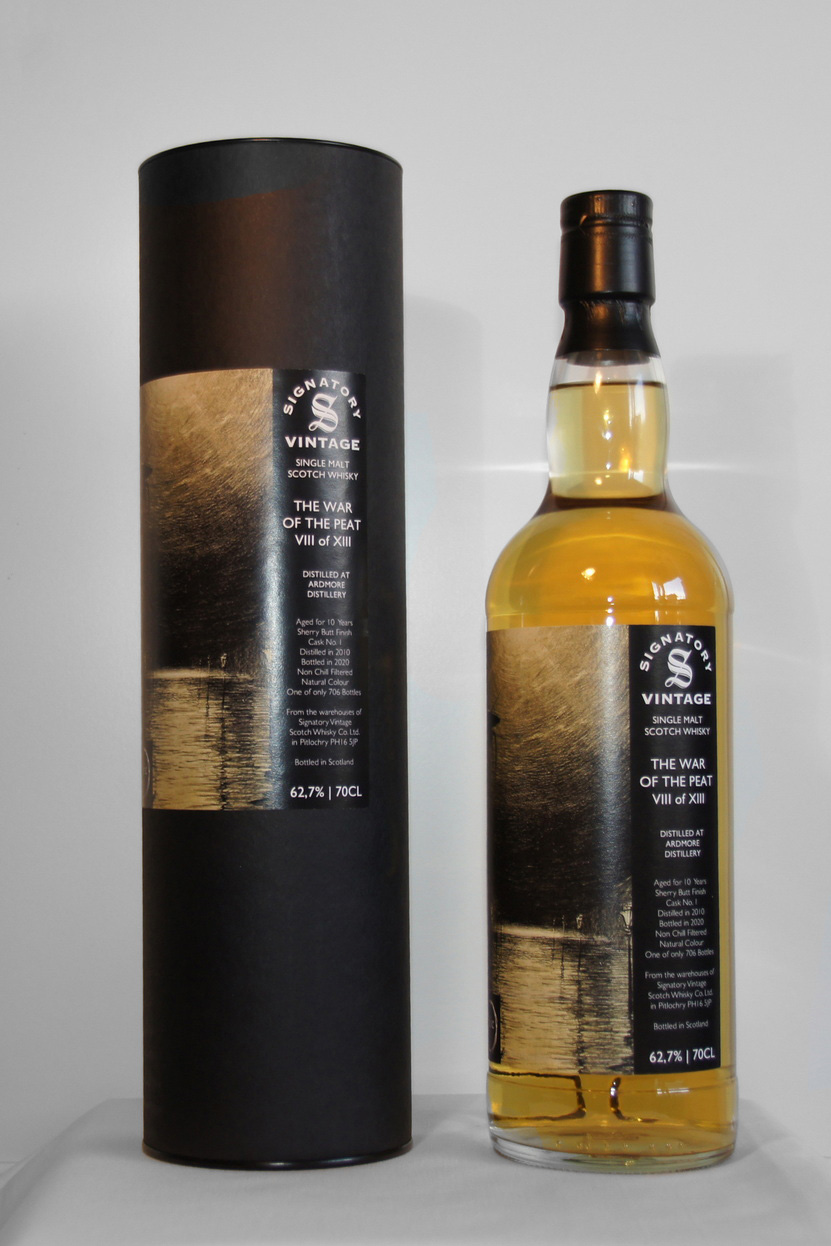 Ardmore 2010/2020 - 10 Jahre Sherry Butt Finish Cask 1 The War of the Peat VIII of XIII
