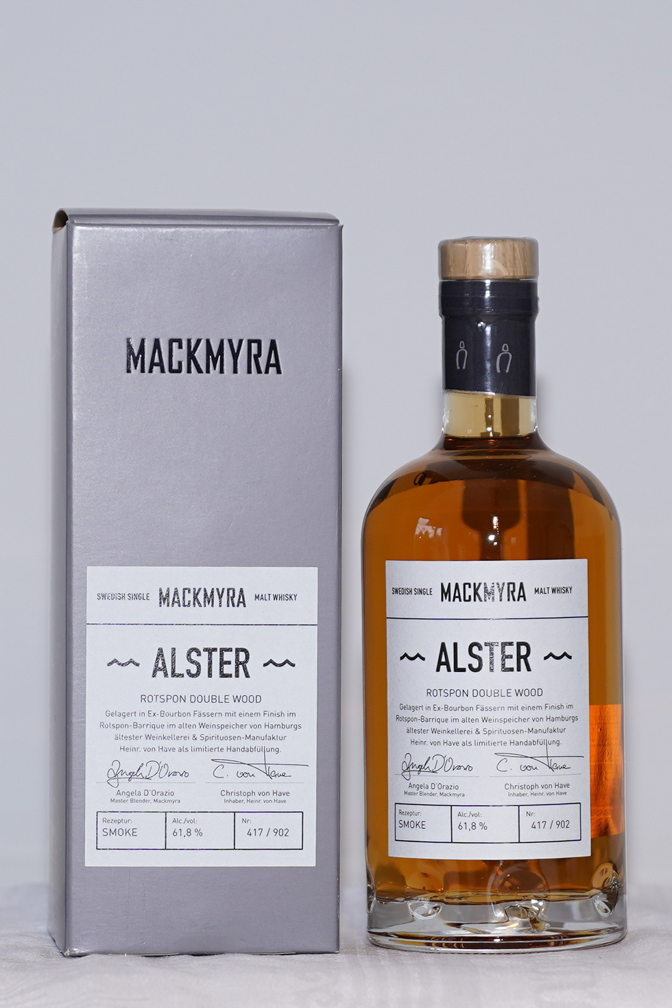Mackmyra Alster- Rotspon Double Wood 61,8%